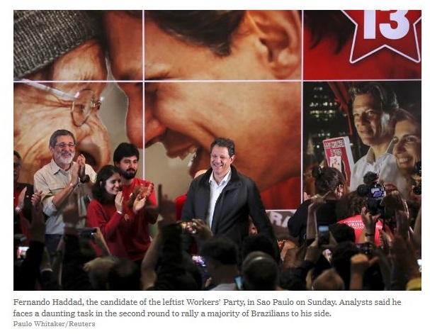 Haddad torna-se líder do campo democrático para imprensa internacional