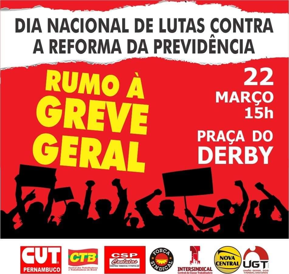 22 de março é dia de ir às ruas para lutar pela aposentadoria