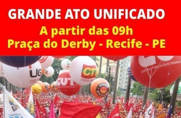 Primeiro de Maio tem ato unificado em Pernambuco
