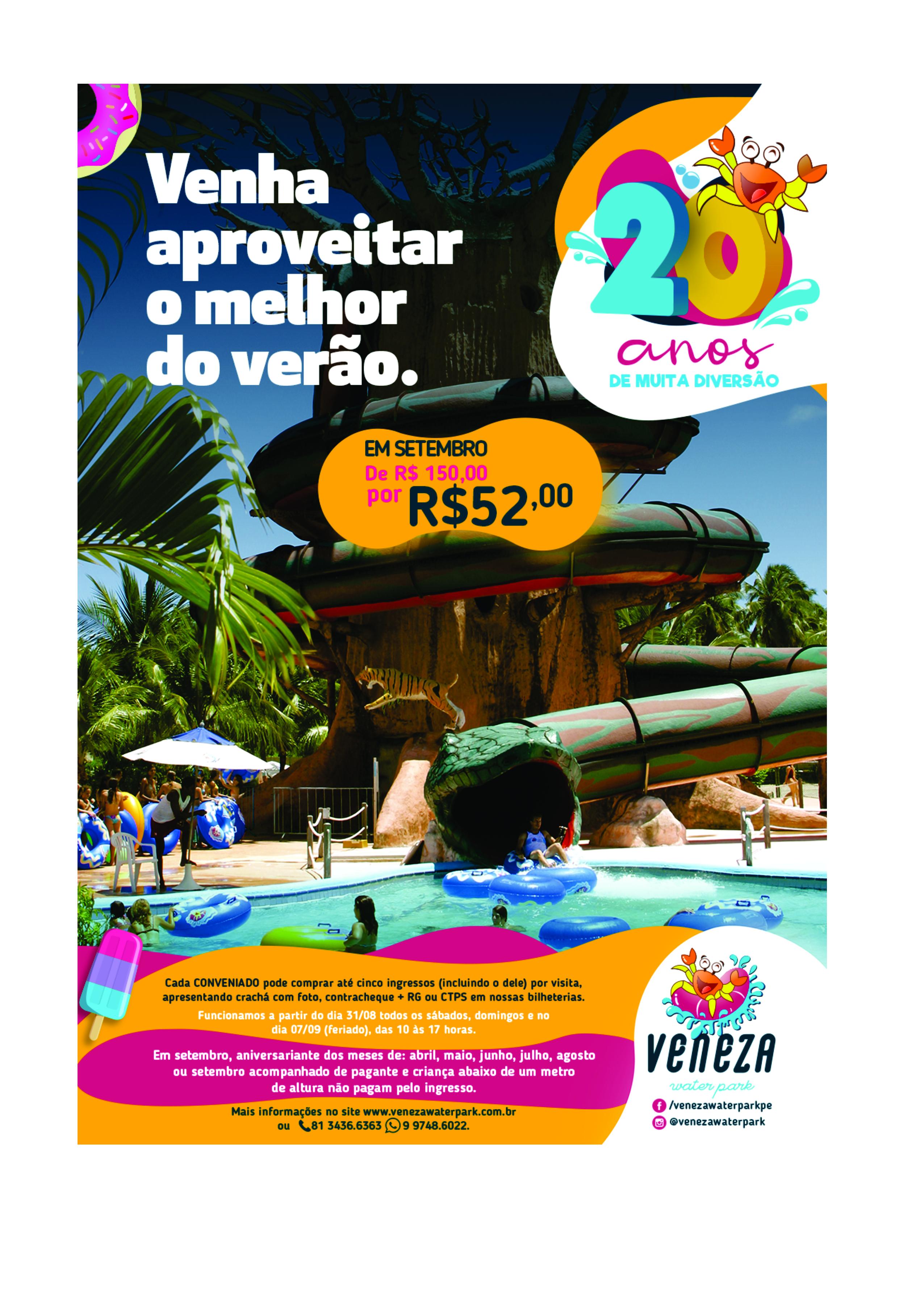 CONVÊNIO VENEZA WATER PARK