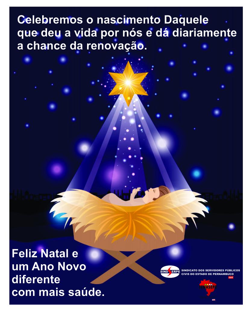 Um Natal de Saúde e Paz!